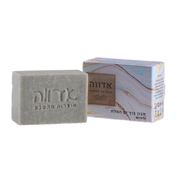 תמונה של סבון בוץ ים המלח בריח גרניום