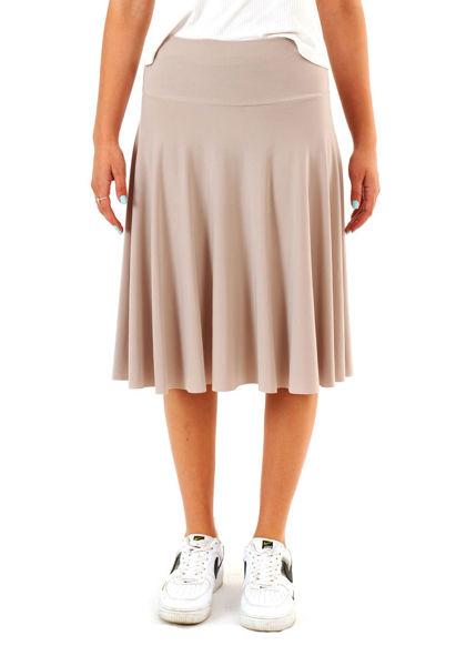 תמונה של חצאית DAN דגם קלוש צבע אבן